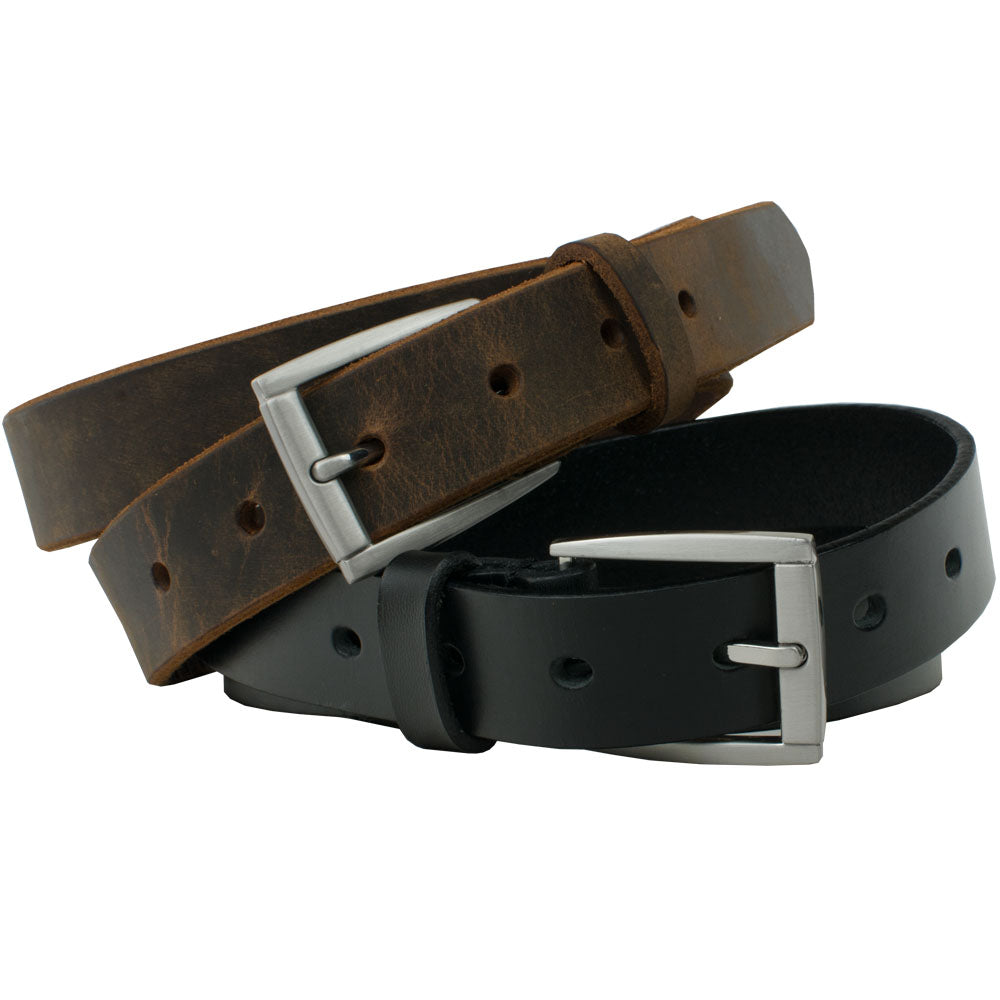 Child's Class 'n' Casual Belt Set by Nickel Smart, nonickel.com, genuine leather