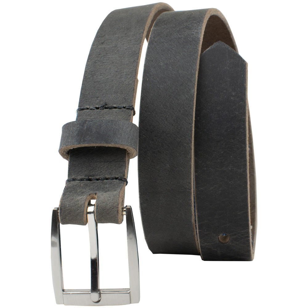 Child's Smoky Mountain Distressed Leather Belt by Nickel Smart - nonickel.com, nickel free