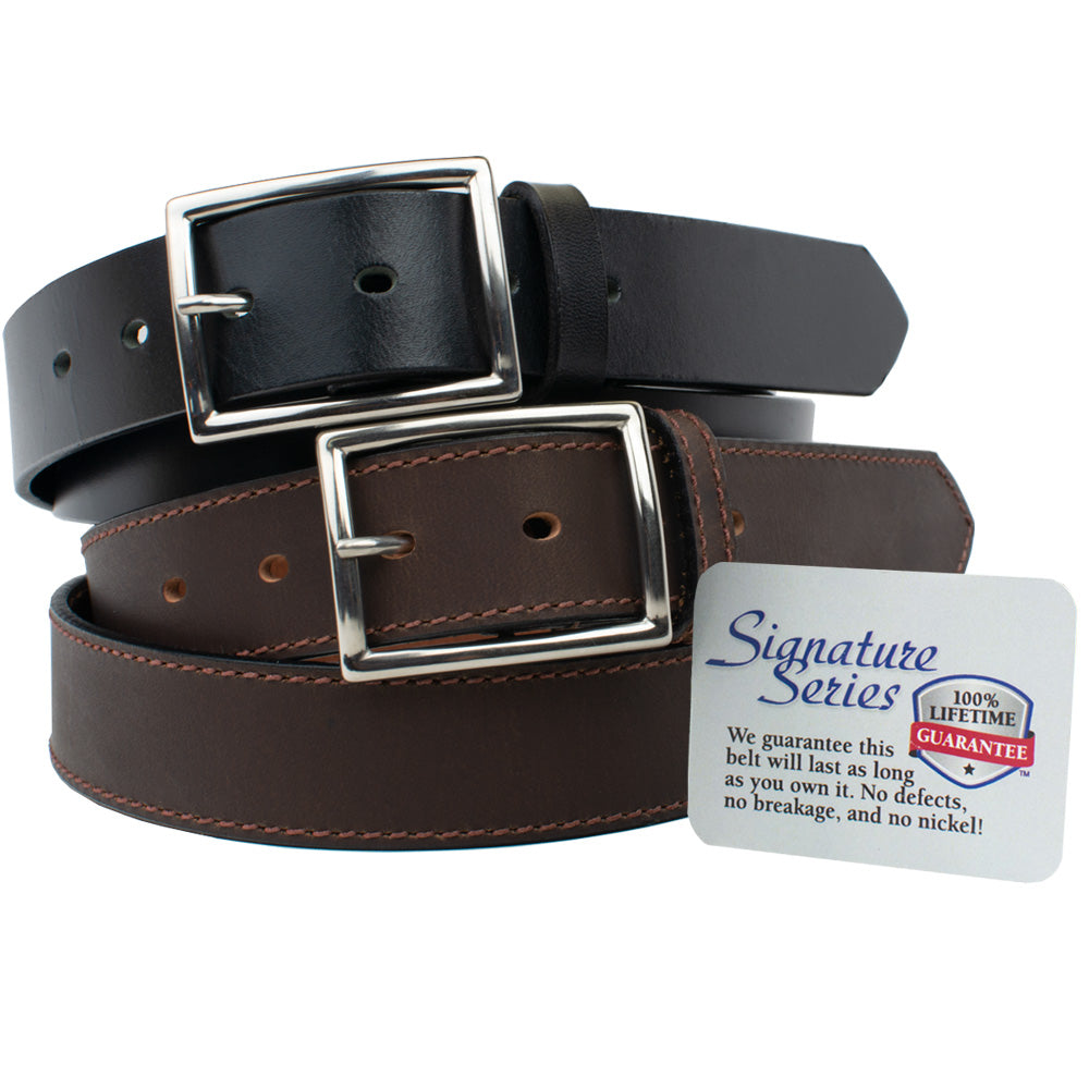 The Entrepreneur Titanium Belt Combo (Black and Brown) by Nickel Smart, nonickel.com, dress belt