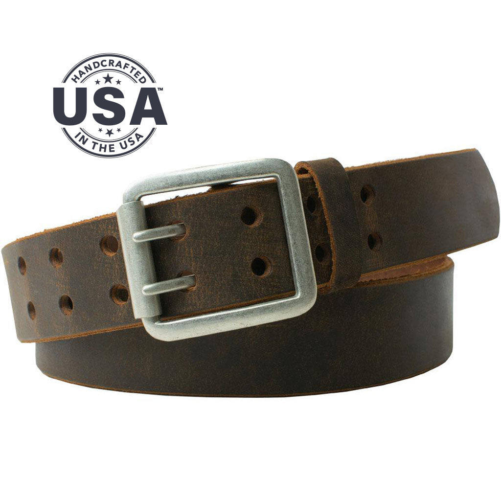 Ridgeline Trail Belt Set By Nickel Smart® | Nonickel.com, made in the USA, genuine leather