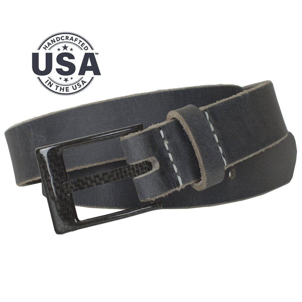 Nickel Free Belt - The Classified Distressed Leather Belt (Gray) By Nickel Smart® | Nonickel.com, Made in USA