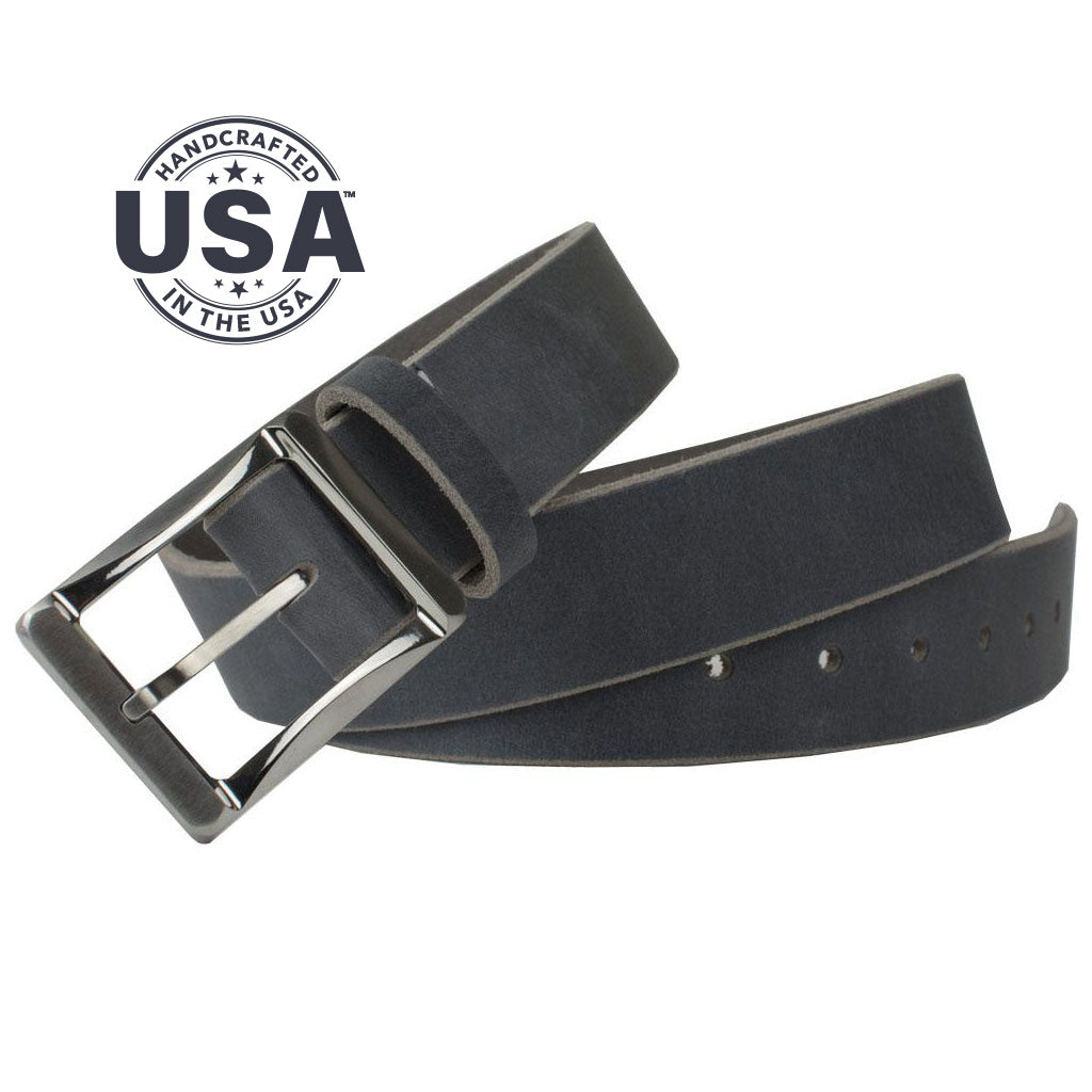 Titanium Work Belt (Distressed Gray) By Nickel Smart® | Nonickel.com. Made in the USA