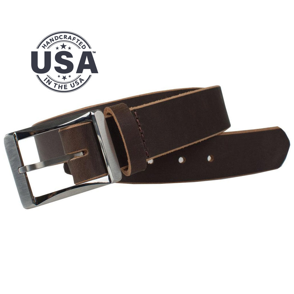 Titanium Work Belt Ii (Brown) By Nickel Smart® | Nonickel.com. Made in the USA
