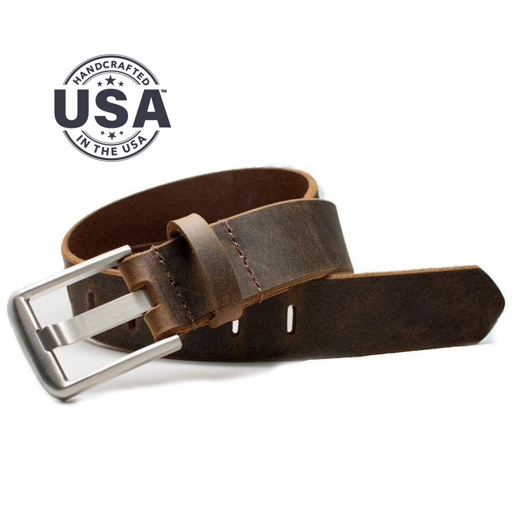 Nickel Free Belt - Titanium Wide Pin Distressed Leather Belt By Nickel Smart® | Nonickel.com. Made in the USA