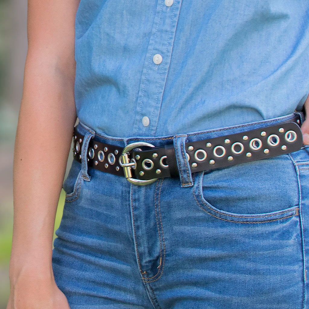 Nickel Free Belt - Black Studded Belt Ii By Nickel Smart® | Nonickel.com