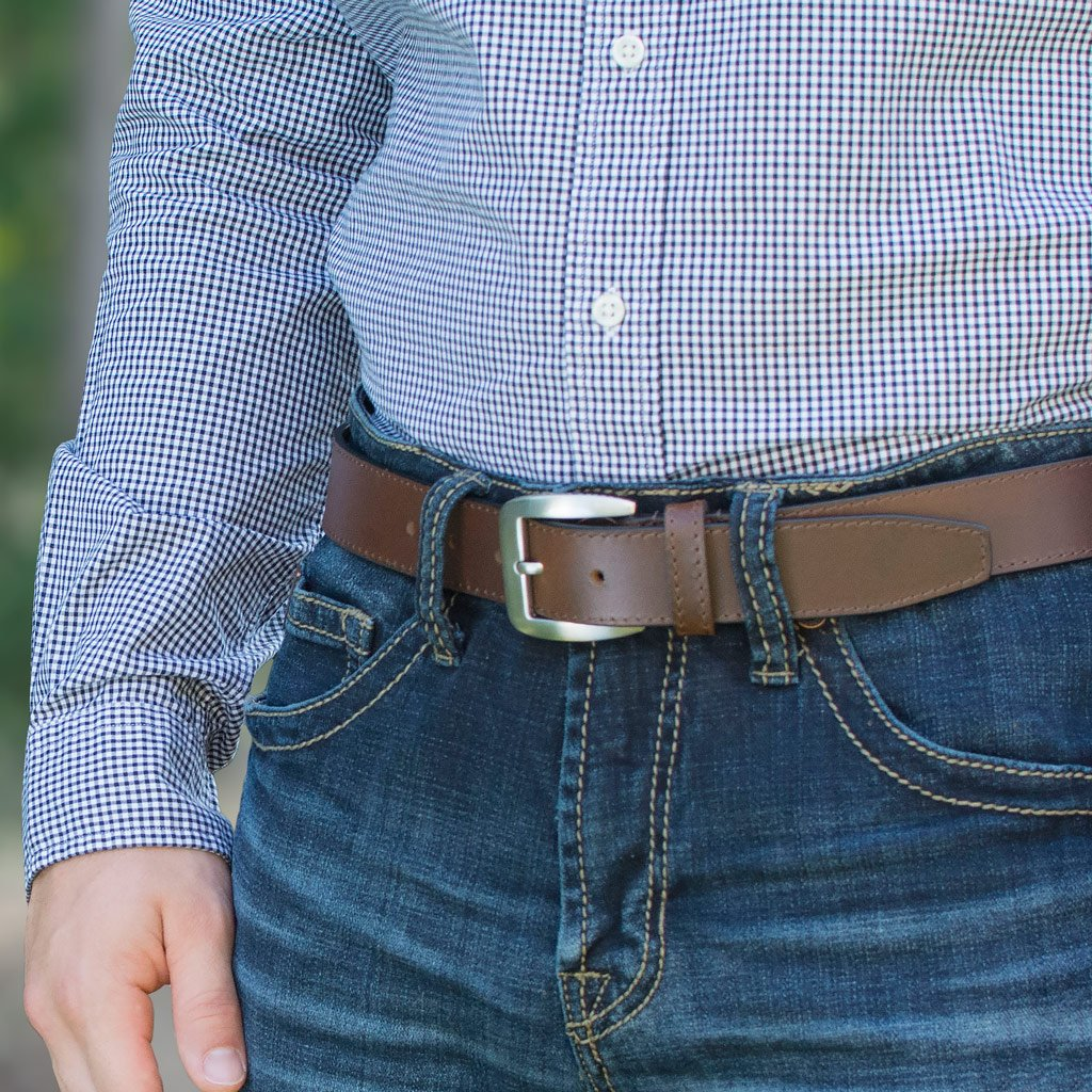 Nickel Free Belt - Casual Brown Belt Ii (Blemished) By Nickel Smart | Nonickel.com