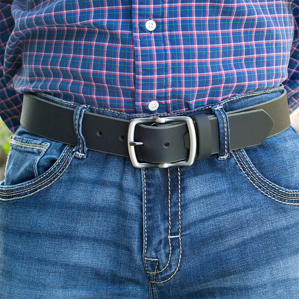 Cold Mountain Belt (Black With Gray Buckle) By Nickel Smart® | Nonickel.com, hypoallergenic