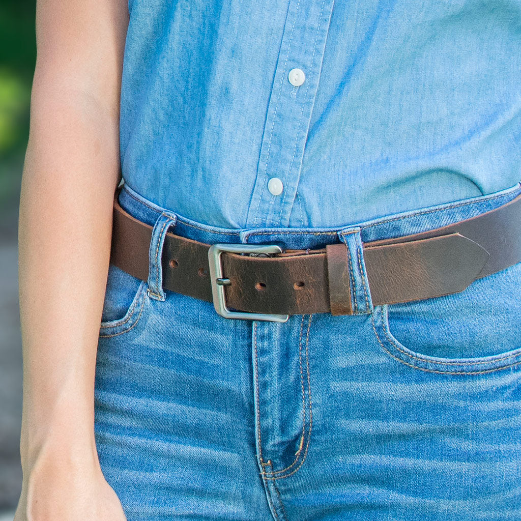 Roan Mountain Distressed Leather Belt By Nickel Smart® | Nonickel.com, nickel free belts