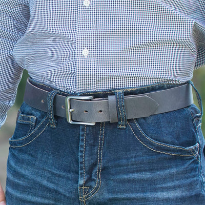 Smoky Mountain Distressed Leather Belt - Made in USA
