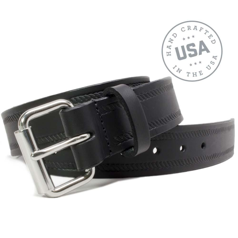 Black Rope Belt By Nickel Smart® | Nonickel.com, made in the USA, genuine leather
