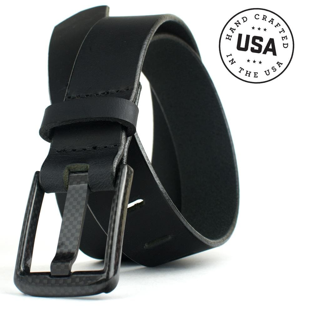 Carbon Fiber Wide Pin Black Belt By Nickel Smart® | Nonickel.com, made in the USA