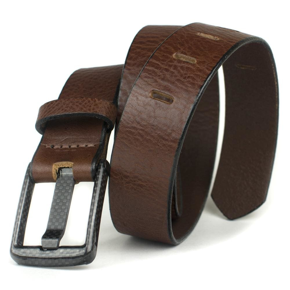 Nickel Free Belt - Carbon Fiber Wide Pin Brown Belt By Nickel Smart® | Nonickel.com