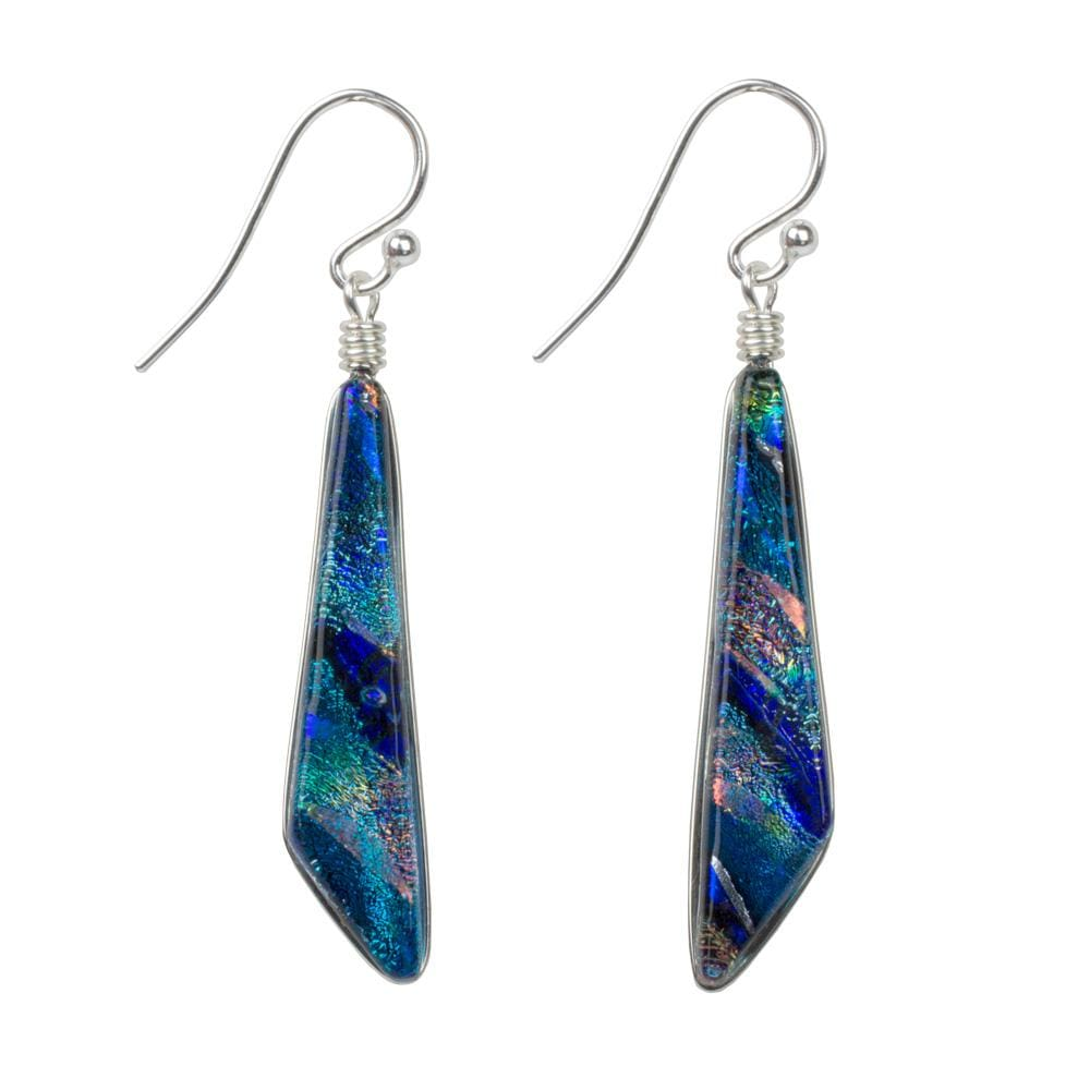 Cascades Earrings - Rainbow Blue | Nonickel.com, sensitive ears, hypoallergenic