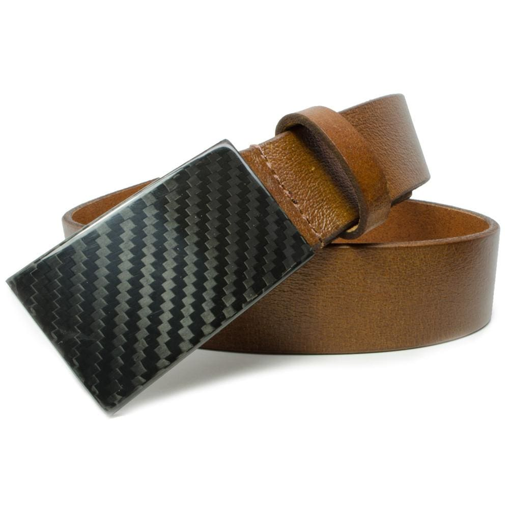 CF 2.0 Brown Belt By Nickel Smart® | Nonickel.com, carbon fiber hook buckle