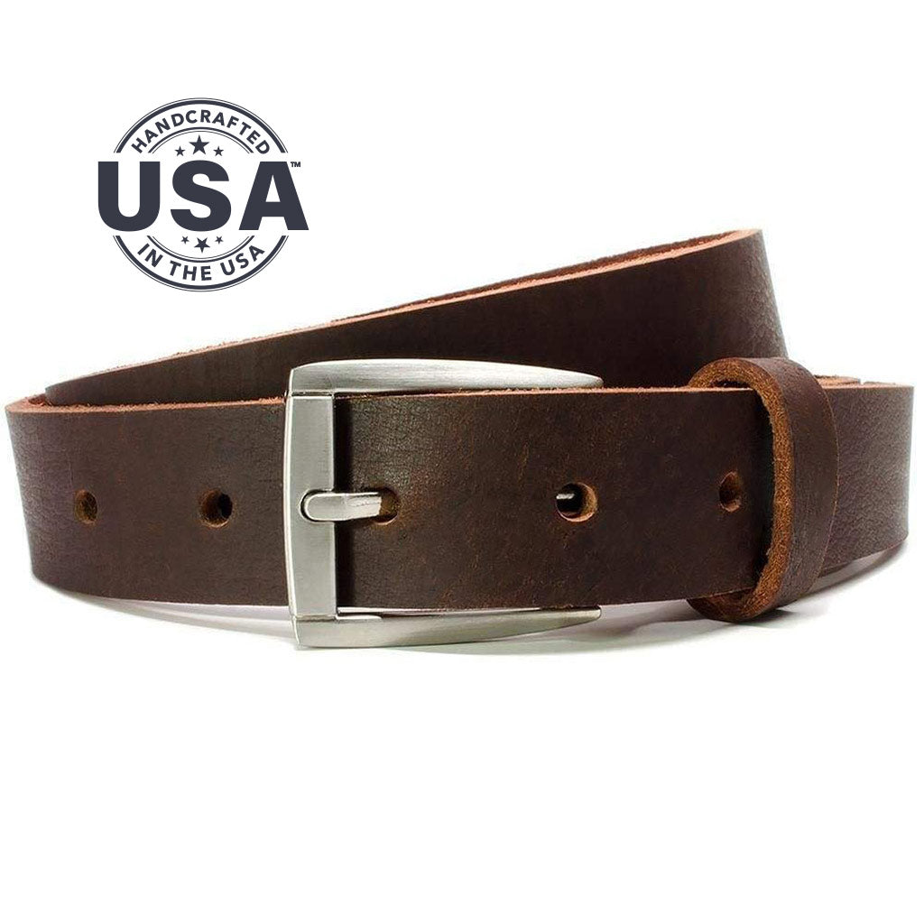 Childs Roan Mountain Belt (Brown) By Nickel Smart | Nonickel.com, Zinc buckle