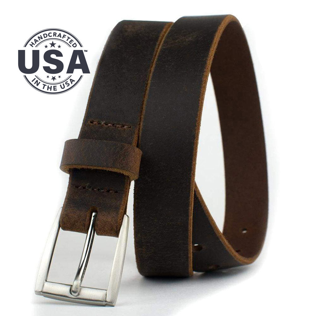 Childs Roan Mountain Distressed Brown Belt By Nickel Smart® | Nonickel.com, made in the USA