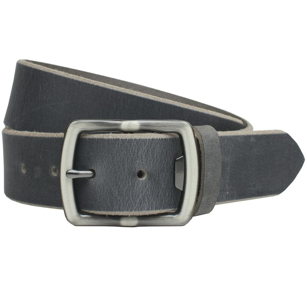 Cold Mountain Distressed Leather Belt (Gray) By Nickel Smart® | Nonickel.com nickel free buckle