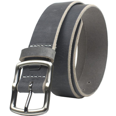 Nickel Free Belt - Cold Mountain Distressed Leather Belt (Gray) By Nickel Smart® | Nonickel.com