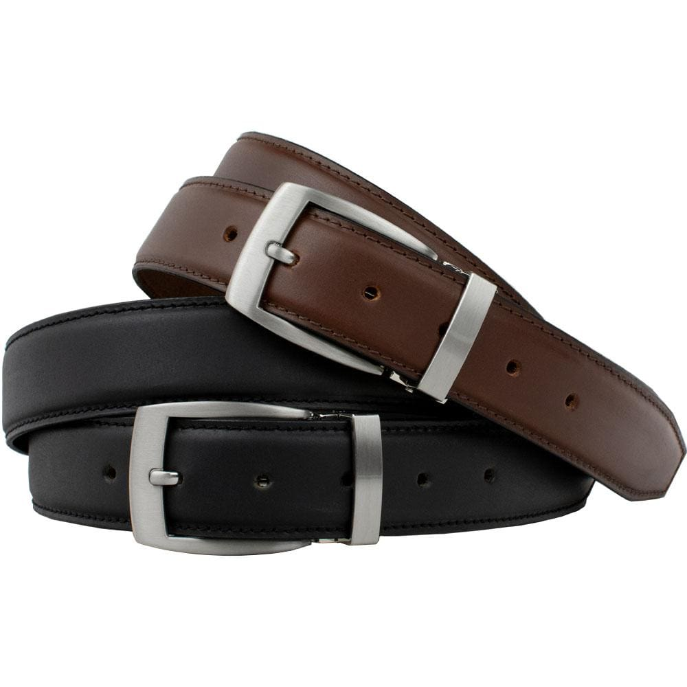 Nickel Free Belt - Dress Belt Black And Brown Combo By Nickel Smart® | Nonickel.com