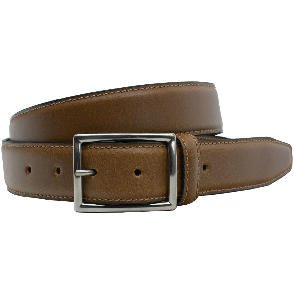The Entrepreneur Titanium Belt (Tan) by Nickel Smart, nonickel.com, casual belt, dress belt