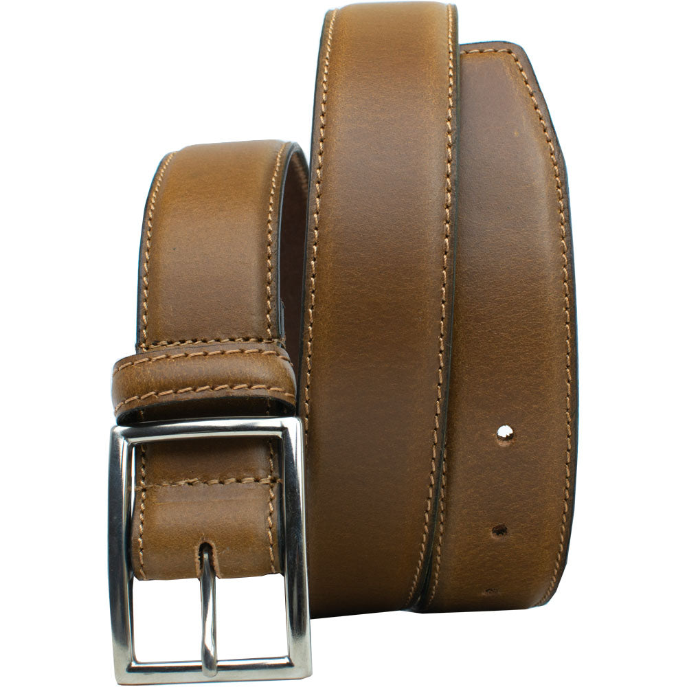 The Entrepreneur Titanium Belt (Tan) by Nickel Smart, nonickel.com, hypoallergenic, nickel free