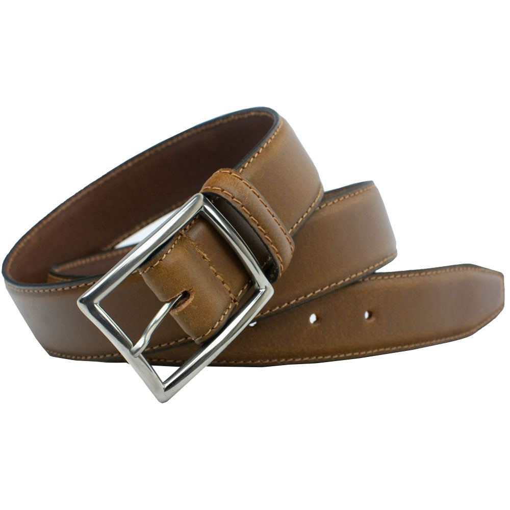 The Entrepreneur Titanium Belt (Tan) by Nickel Smart, nonickel.com, made in the USA