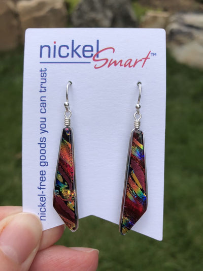 Nickel Free Necklaces - Jasmine Necklace And Earring Set - Rainbow Red | Nonickel.com