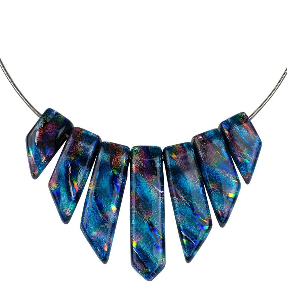 Nickel Free Necklaces - Jasmine Necklace - Rainbow Blue | Nonickel.com