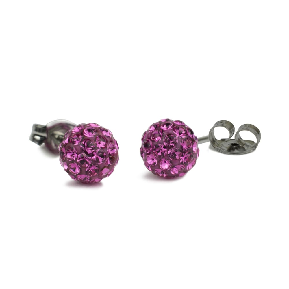 Princess Pink Post Earrings By Nickel Smart® | Nonickel.com, nickel free earrings, hypoallergenic
