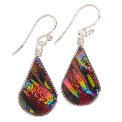 Nickel Free Earrings - Rainbow Falls Earrings - Rainbow Red | Nonickel.com