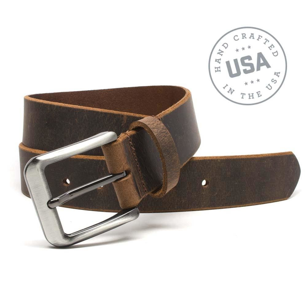 Roan Mountain Distressed Leather Belt By Nickel Smart® | Nonickel.com, made in the USA