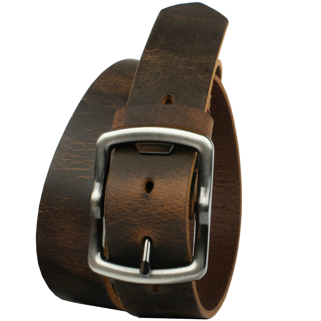 Rocky River Brown Belt By Nickel Smart® | Nonickel.com, genuine leather, made in the USA