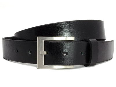 Nickel Free Belt - Silver Square Black Belt (Blemished) By Nickel Smart | Nonickel.com