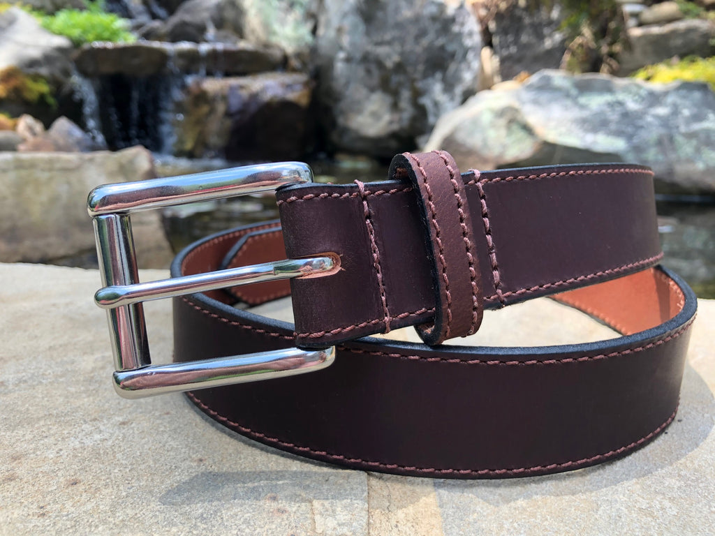 The Site Manager Belt (Brown) by Nickel Smart- nonickel.com, nickel free, stainless steel buckle