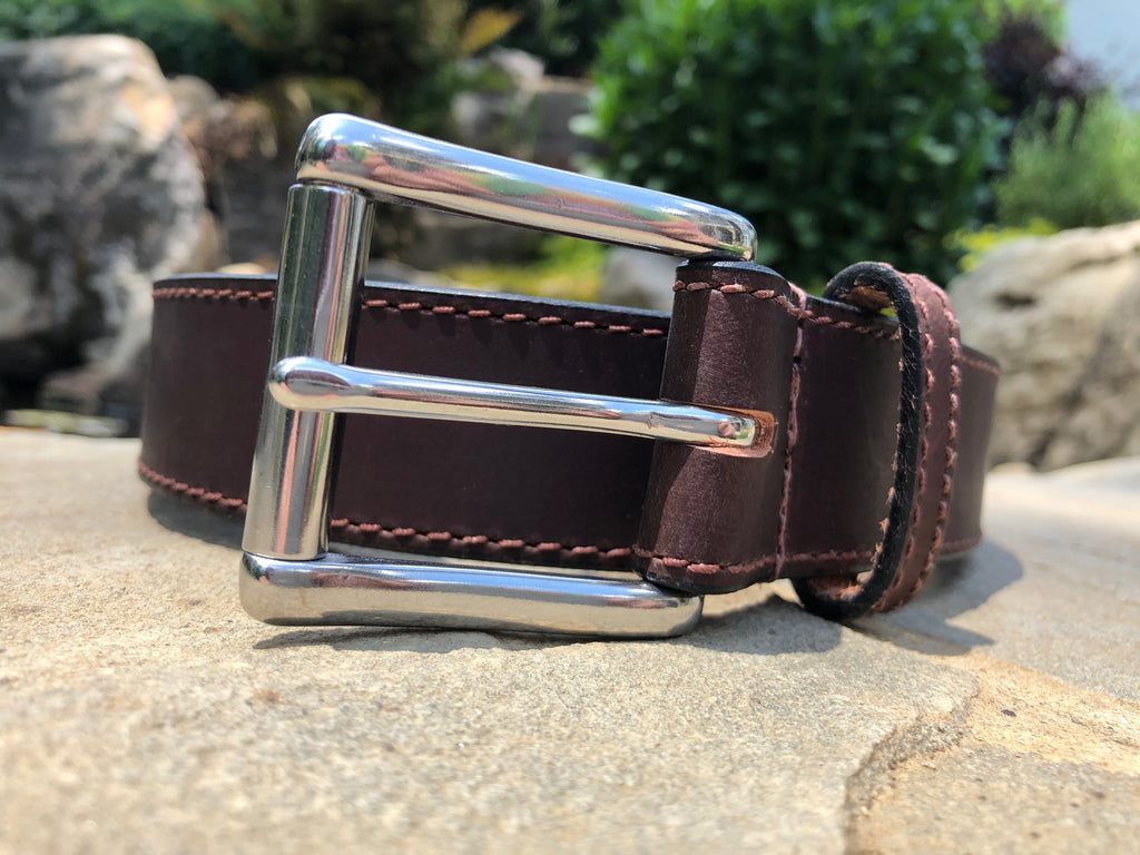 The Site Manager Belt (Brown) by Nickel Smart- nonickel.com, genuine leather, made in the USA