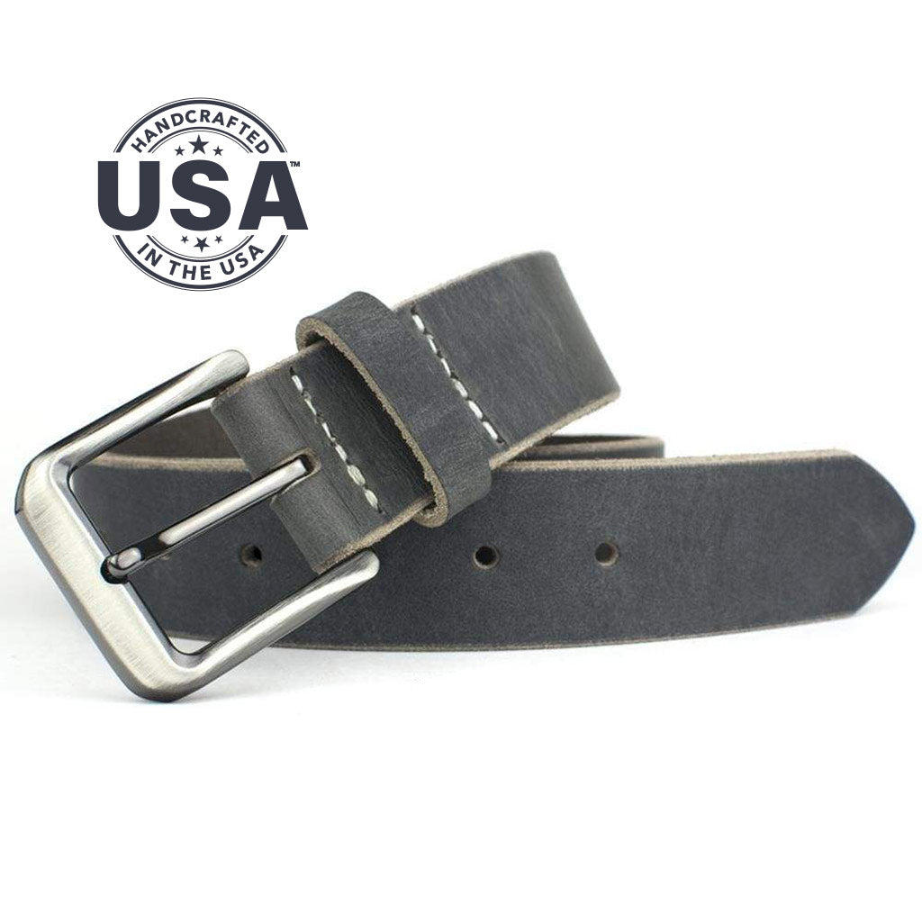 Smoky Mountain Distressed Leather Belt By Nickel Smart® | Nonickel.com, made in the USA