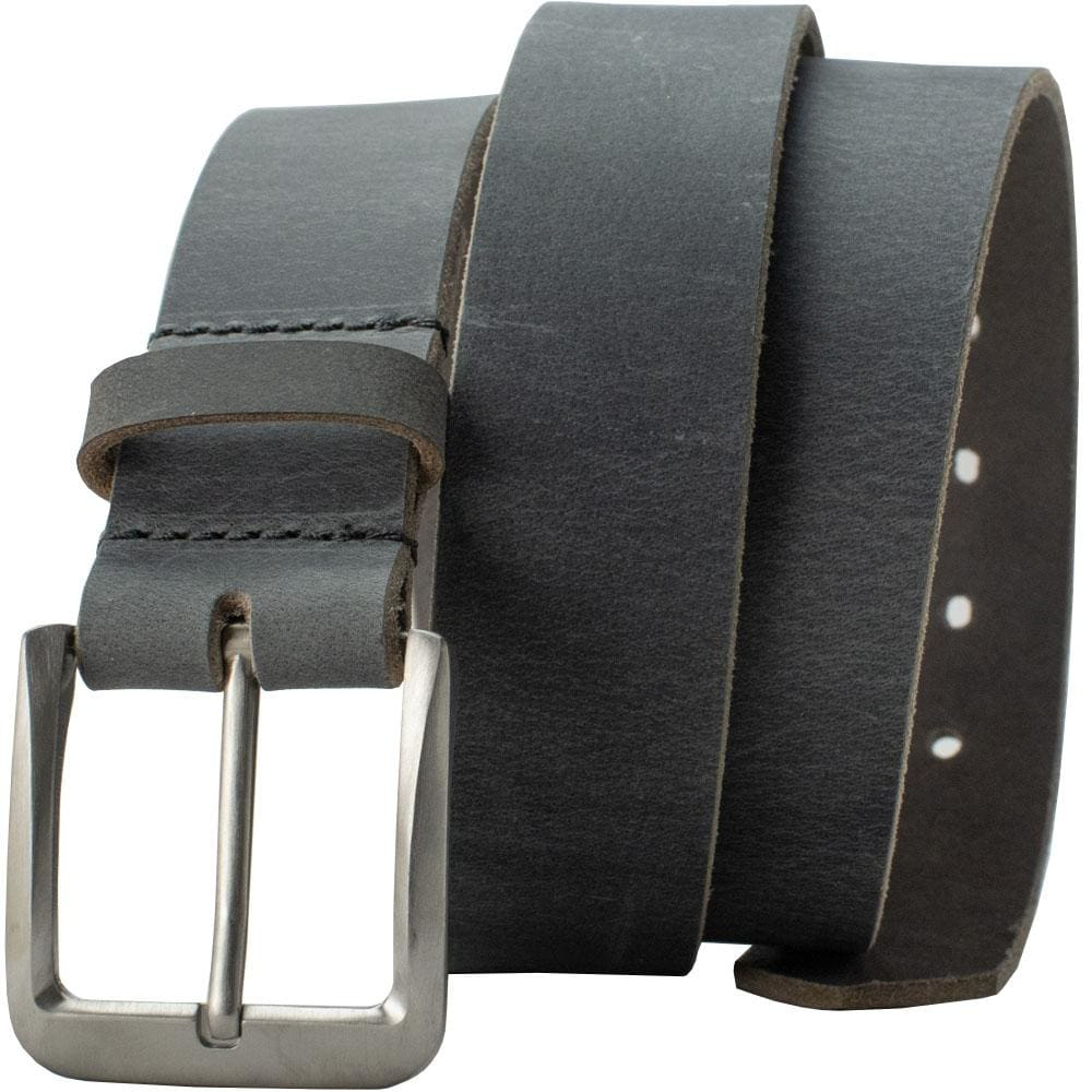 Smoky Mountain Titanium Distressed Leather Belt By Nickel Smart® | Nonickel.com, nickel free