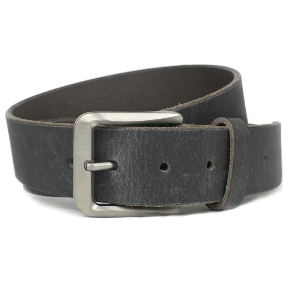 Smoky Mountain Titanium Distressed Leather Belt By Nickel Smart® | Nonickel.com, hypoallergenic