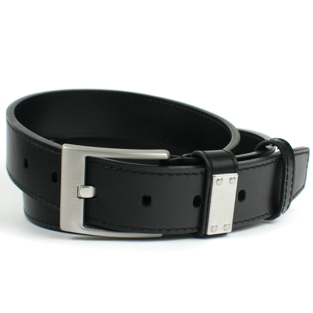 Nickel Free Belt - Square Wide Pin Black Belt (Blemished) By Nickel Smart | Nonickel.com