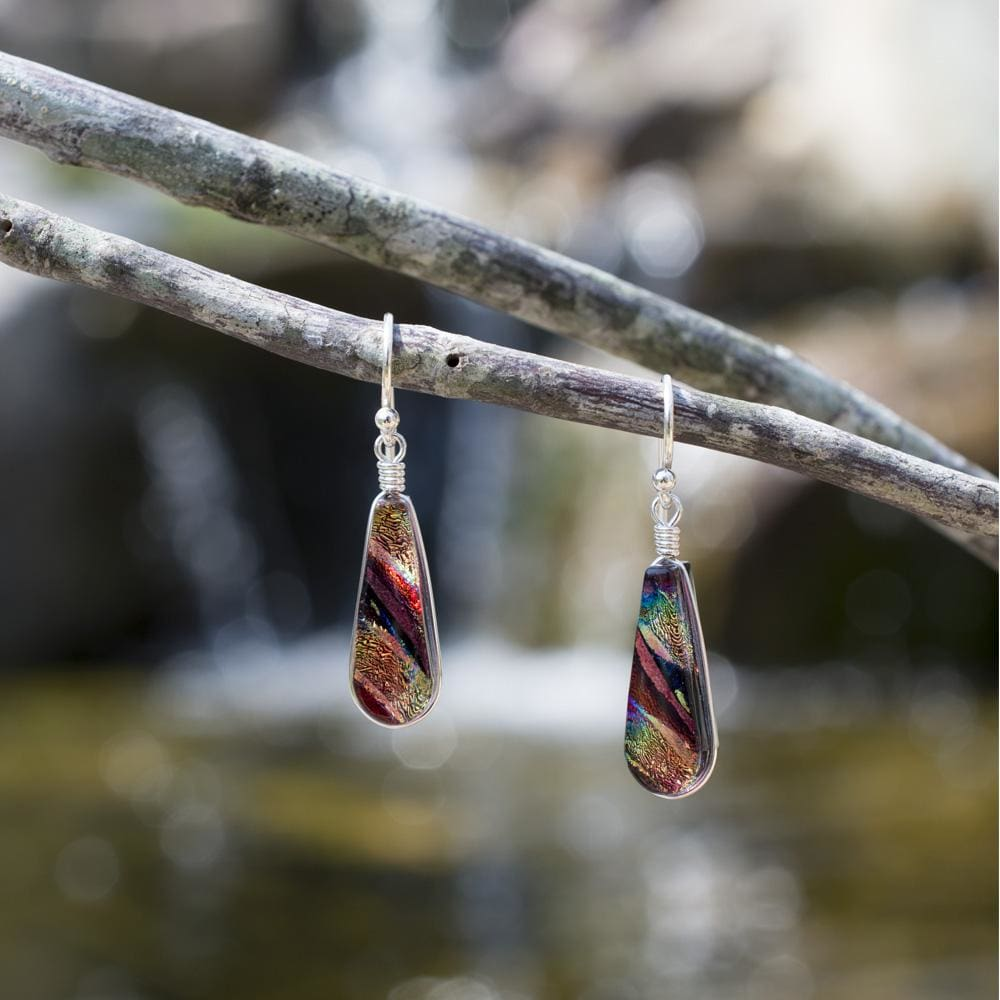 Nickel Free Earrings - Sunburst Falls Earrings - Rainbow Red | Nonickel.com