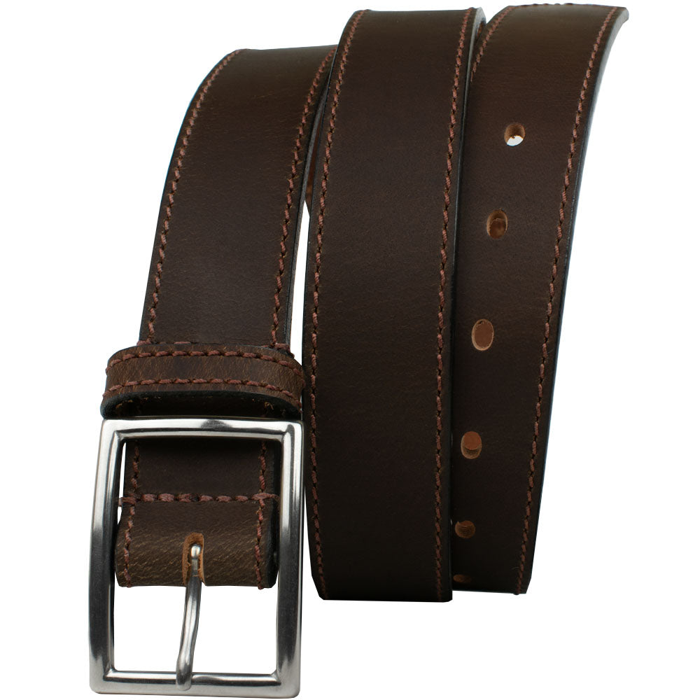 The Entrepreneur Titanium Belt (Brown) by Nickel Smart, nonickel.com, work belt, casual belt