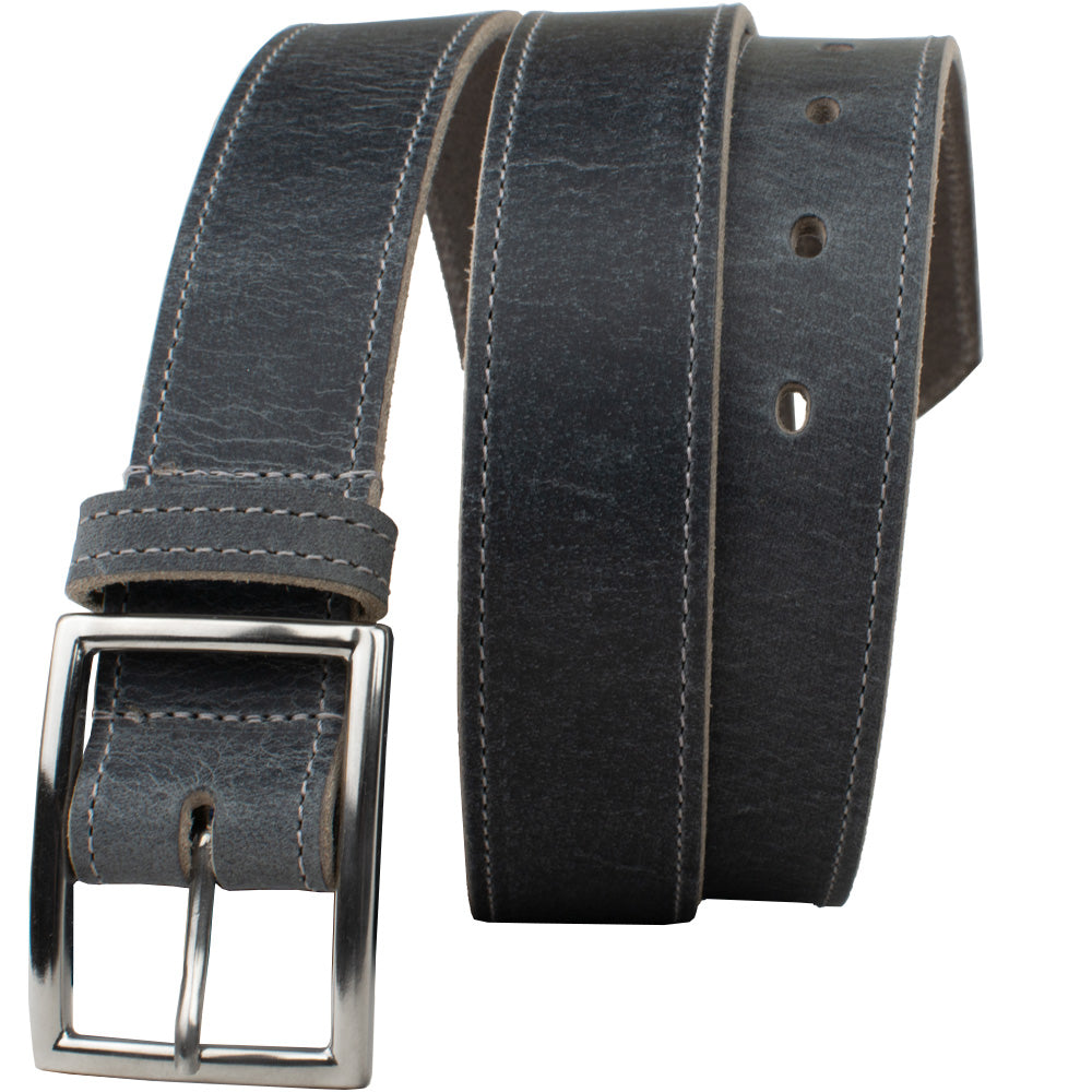 The Entrepreneur Titanium Belt (Distressed Gray) by Nickel Smart, nonickel.com, hypoallergenic