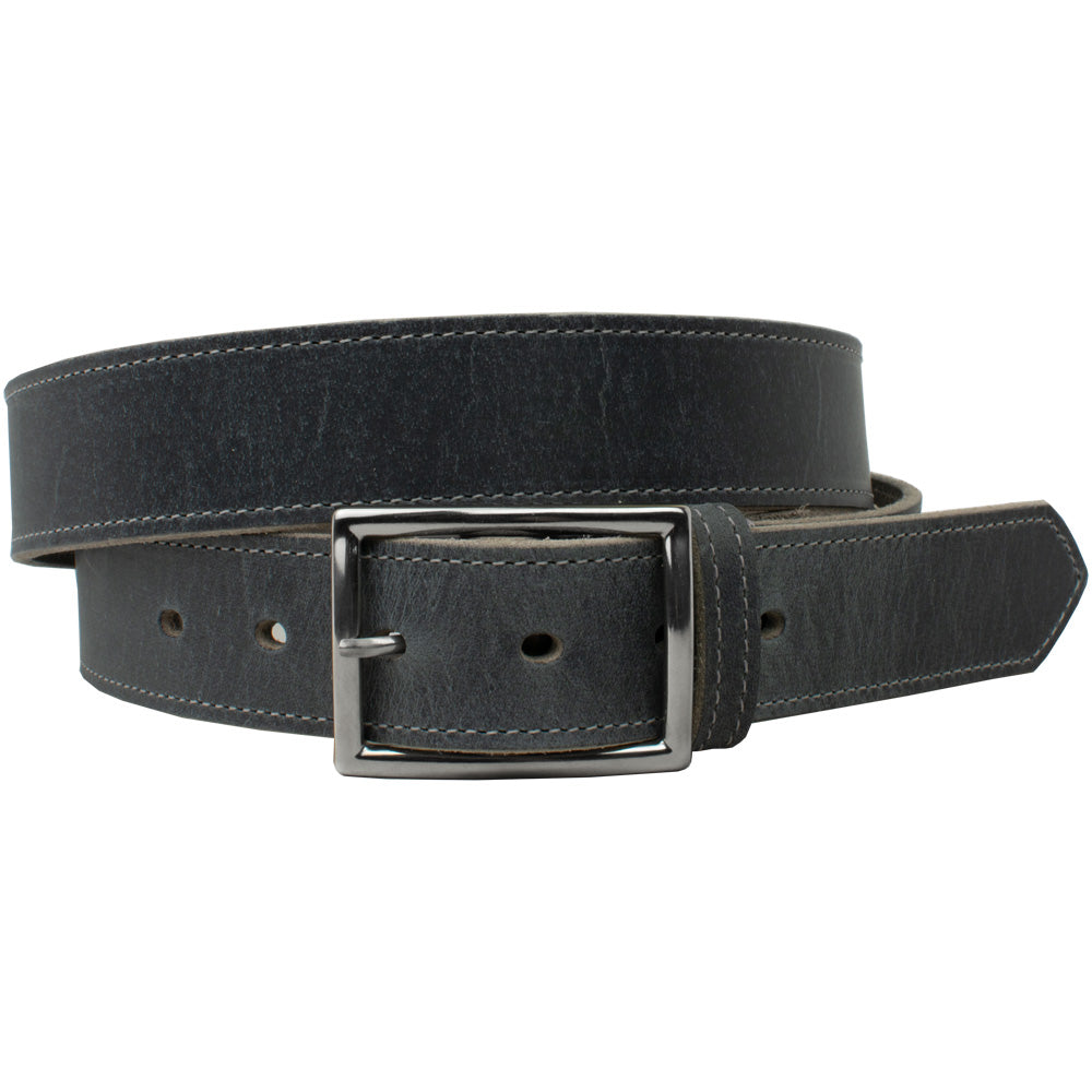 The Entrepreneur Titanium Belt (Distressed Gray) by Nickel Smart, nonickel.com, dress or casual belt