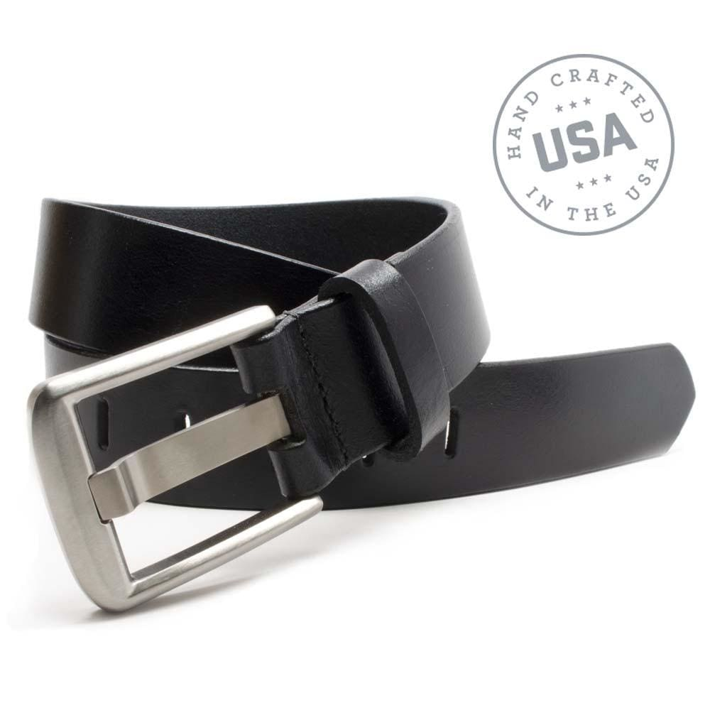 Titanium Wide Pin Black Belt By Nickel Smart® | Nonickel.com, made in the USA