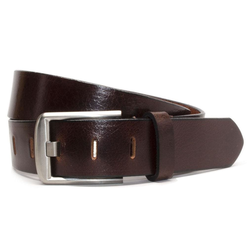 Titanium Wide Pin Brown Belt By Nickel Smart® | Nonickel.com, hypoallergenic, nickel free