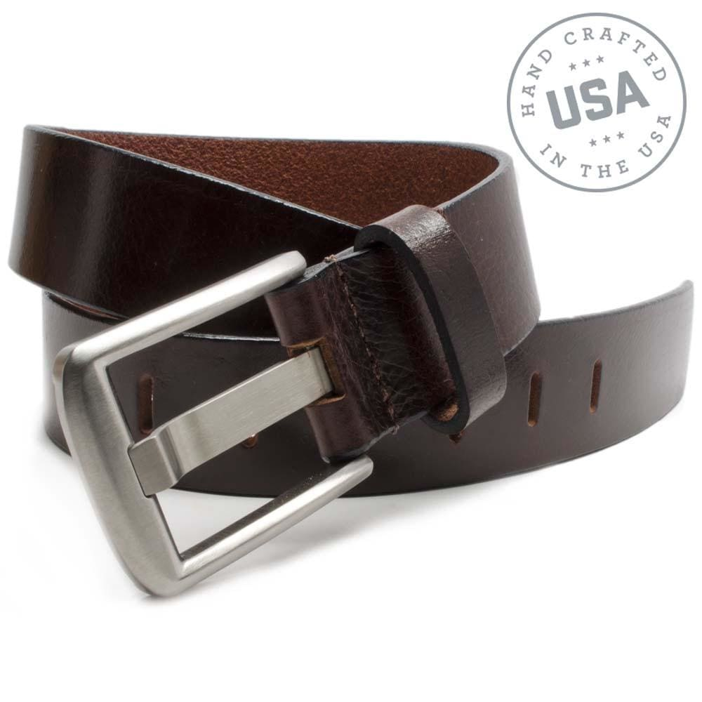 Titanium Wide Pin Brown Belt By Nickel Smart® | Nonickel.com, made in the USA