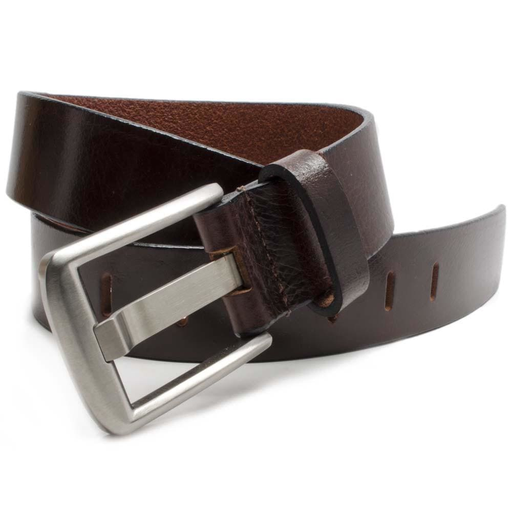 Titanium Wide Pin Brown Belt By Nickel Smart® | Nonickel.com, Genuine leather, titanium buckle