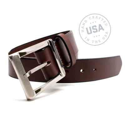 Nickel Free Belt - Titanium Work Belt (Brown) By Nickel Smart® | Nonickel.com