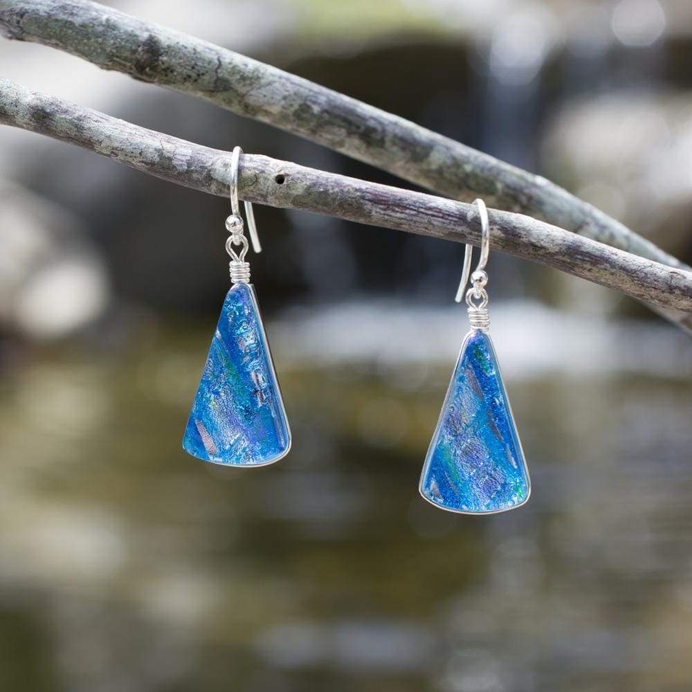 Nickel Free Earrings - Window Waterfalls Earrings - Sea Blue | Nonickel.com