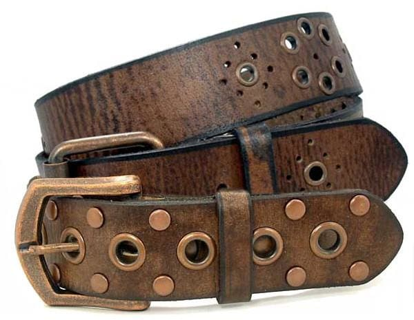 Nickel Free Belt - Womens Fun Favorites Brown Leather Belt Set By Nickel Smart® | Nonickel.com